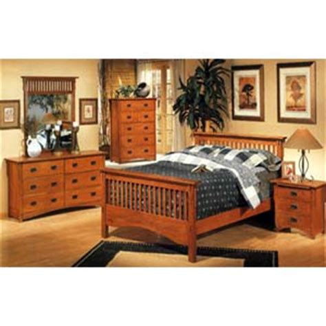 Bedroom Furniture 5 Piece Mission Style Bedroom Set 3291