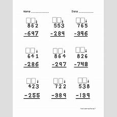 Touch Math Triple Digit Subtraction Worksheets By Lisa's Learning Shop