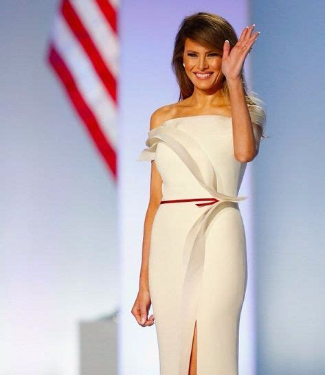 Melania Trump Wears Herv Pierre For Inauguration Gown