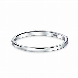 Versatile sterling silver 2mm thin wedding band thumb toe ring for Silver band wedding rings