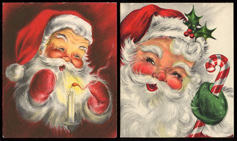 vintage santa claus vintage santa claus christmas cards a photo on flickriver