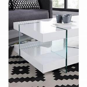 Table Salon Blanc Laqué : table basse design achat vente table basse design pas cher cdiscount ~ Teatrodelosmanantiales.com Idées de Décoration