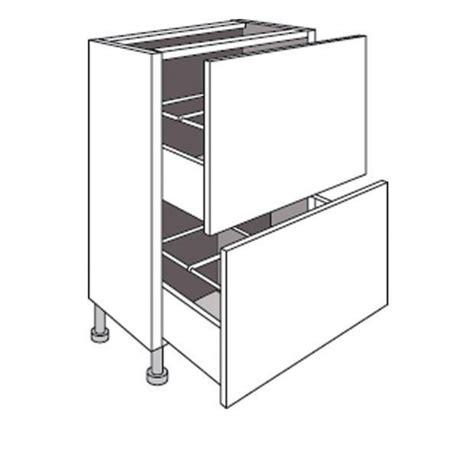 meuble cuisine profondeur meuble de cuisine bas faible profondeur 2 tiroirs twist