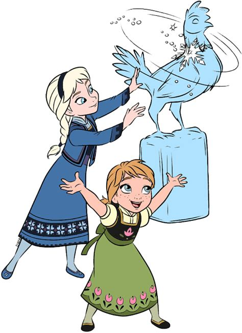 young anna elsa clip art  frozen disney clip art galore