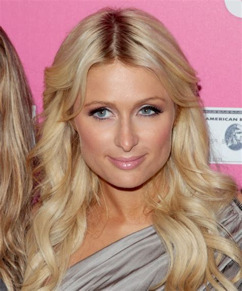 Paris Hilton Long Wavy Formal Hairstyle   Medium Blonde