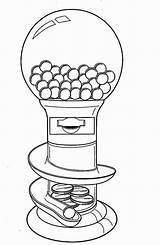 Coloring Machine Gumball Gum Bubble Drawing Inspirational Getdrawings Wickedbabesblog Popular sketch template