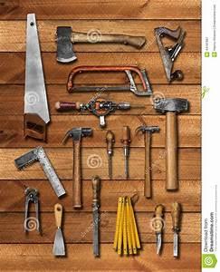 94 Outil De Bricolage : vieux outils de bricolage de charpentier sur le bois photo ~ Dailycaller-alerts.com Idées de Décoration