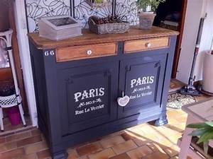 peindre au pochoir sur un meuble relooker un meuble With peindre un meuble en noir