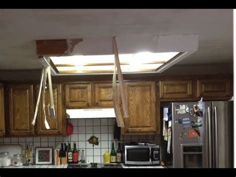 rustic wood trim how to remove fluorescent ceiling light box