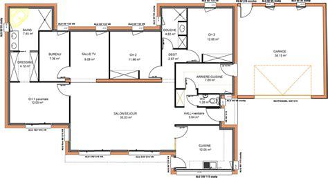 maison 3 chambres plain pied plan maison moderne plain pied chaios com
