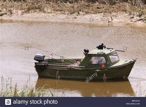 Small Fishing Boat Motor by Small Motor Fishing Boat With One Fisherman And Many