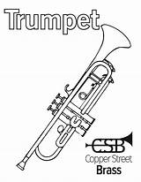 Coloring Pages Instrument Resources Brass Copper Because Why sketch template