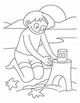 Coloring Castle Sand Vacation Colornimbus Making Boy sketch template