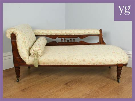 settees ebay antique mahogany edwardian upholstered chaise longue