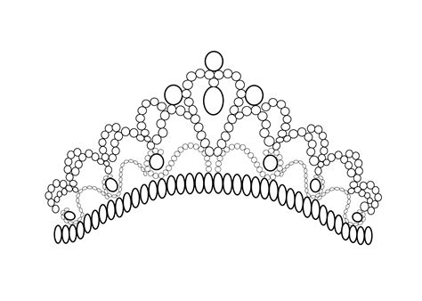 Pretty Tiara Coloring Page For Girls, Printable Free