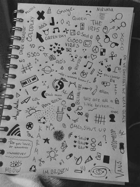 Resultado de imagen de simple doodles cuadernos | Dibujos simples tumblr, Garabatos libreta y