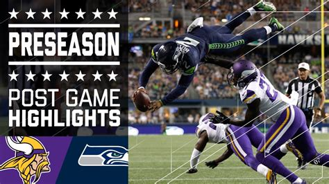 vikings  seahawks game highlights nfl youtube