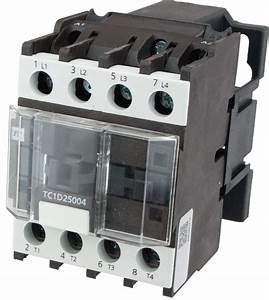 4 Pole Contactor 25 Amp 4 N  O 110 Volt Ac Coil