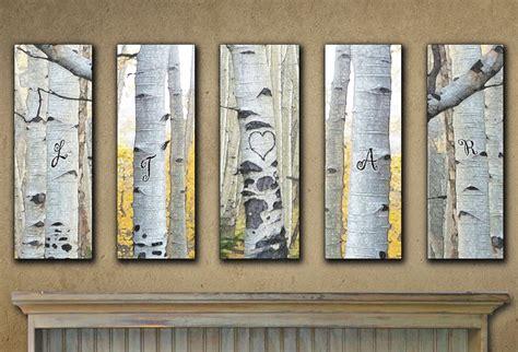 large personalized aspen wall art set