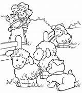 Coloring Pages Farm Sheep sketch template