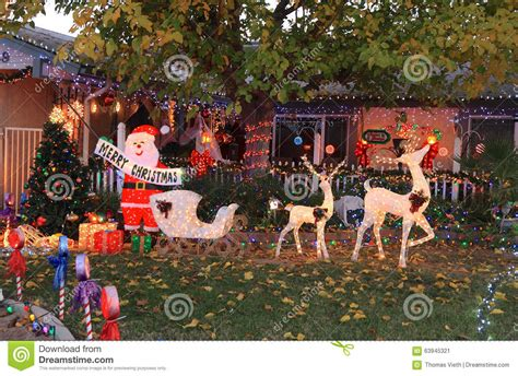 usa arizona front yard christmas stock image image