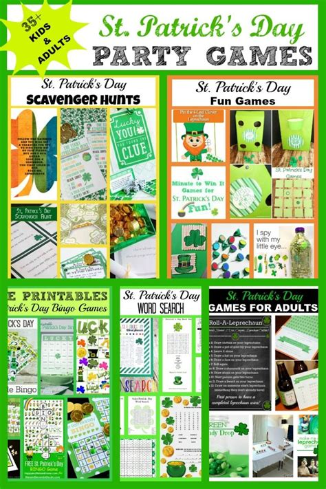 St Patricks Day Party Games Kids  Adults