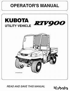 Kubota Rtv900 Operators Manual