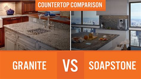 Vs Granite by Granite Vs Soapstone Countertop Comparison