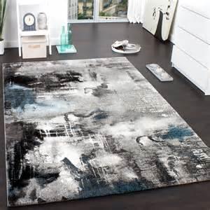 designer teppiche teppich modern designer teppich leinwand optik meliert grau türkis creme wohn und schlafbereich