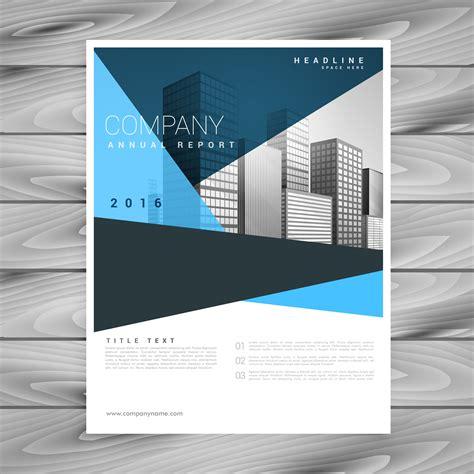 Blue And Green Vector Brochure Flyer Design Template Abstract Geometric Blue Brochure Flyer Design Template