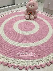 Baby Tapete Rosa : tapete de croch rosa e creme baby cec lia 1 metro ~ Michelbontemps.com Haus und Dekorationen