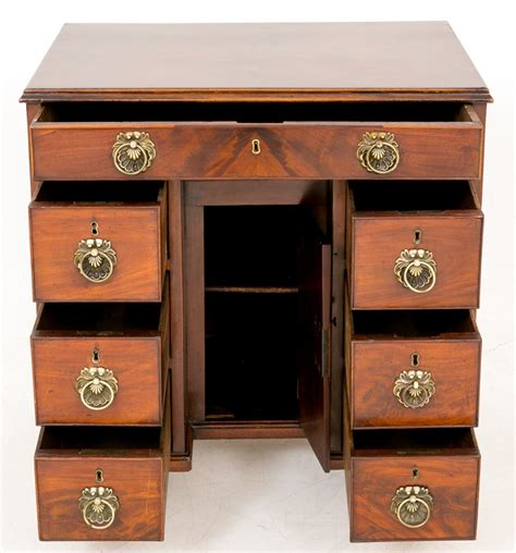 Georgian Desk by Georgian Mahogany Kneehole Desk Lp19 18 La70833