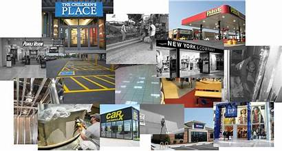 Retail Collage Contracting Stores
