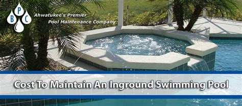 How Much Does It Cost To Maintain An Inground Pool Brian