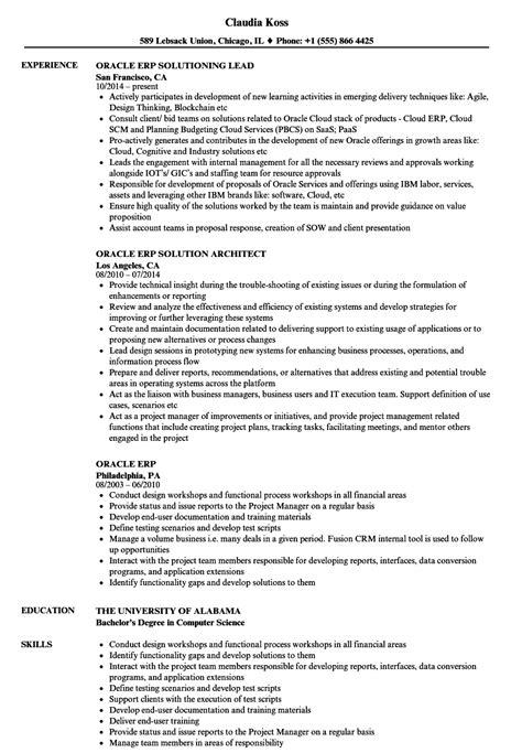 Erp Implementation Resume Sle by Fantastic Erp Resume Sle Inspiration Resume Ideas