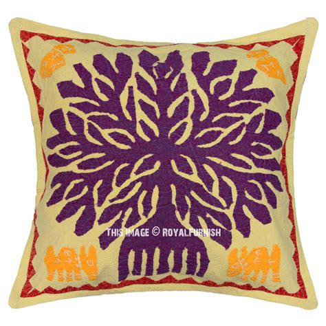 Handmade Pillows by 16 Quot Indian Handmade Tree Of Pillow Decorative