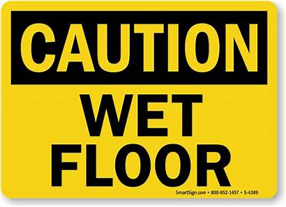 Wet Floor Sign Caution Signs Spanish Fall