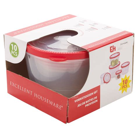 5 Plastic Food Storage Box Containers & Lids Set Microwave