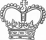 Crown Coloring Pages Queen Tiara Drawing Template King Colouring Kings Clipart Simple Cliparts Line Crowns Outline Easy Clipartmag Royal Printable sketch template