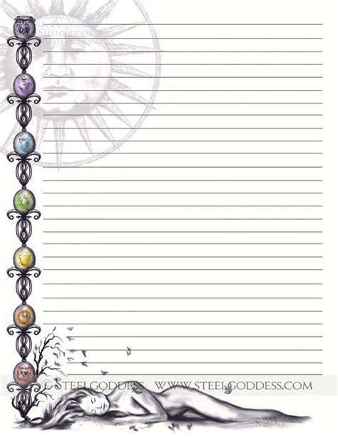 printable lined notebook paper journal pages