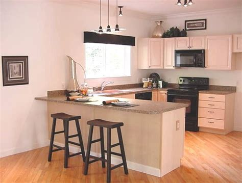 Modern Kitchen With Breakfast Bar  Design Bookmark #14865