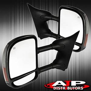 Replacement Extendable Towing Heated Led Mirrors For 1999