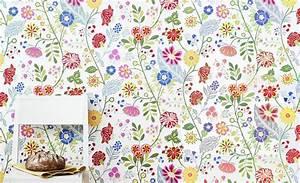 papiers peints natures pour une chambre d39enfant blog au With chambre bébé design avec sac fleuri