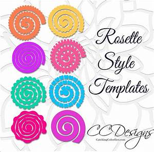 paper rolled rosette templates diy paper flowers printable With rolled paper roses template