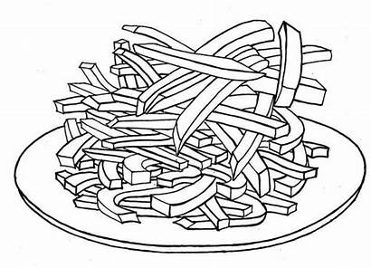 Fries French Coloring Pages Delicious Printable Getcolorings
