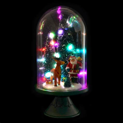 glass light up christmas tree large glass dome christmas ornament room decoration light