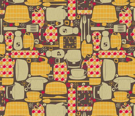 Retro Kitchen Fabric  Leighr  Spoonflower