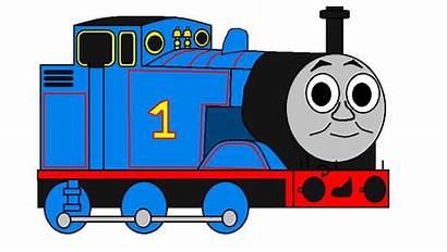 Thomas Train Side Clipart Engine Drawing Clip