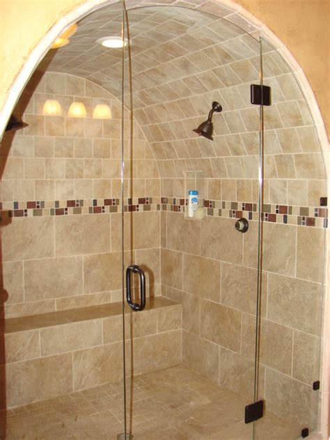cave shower traditional bathroom dallas