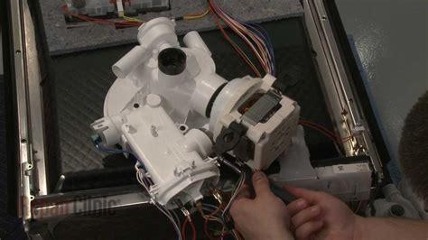 dishwasher circulation pump replacement bosch dishwasher repair part  youtube